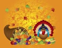 Van de Hoorn des overvloedsturkije van het thanksgiving dayfeest de Pelgrim w Royalty-vrije Stock Foto