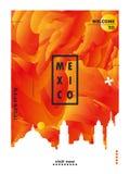 Van de de horizonstad van Mexico-City de gradiënt vectoraffiche vector illustratie