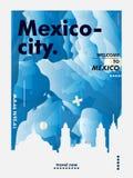 Van de de horizonstad van Mexico-City de gradiënt vectoraffiche stock illustratie
