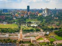 Van de horizonwolkenkrabbers van Nairobi de stadsmening stock afbeeldingen