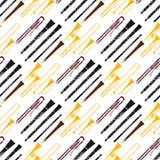 Van de de hulpmiddelen akoestische musicus van wind muzikale instrumenten van het het materiaalorkest het patroon naadloze vector stock illustratie