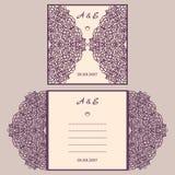 Van de huwelijksuitnodiging of groet kaart met abstract ornament Royalty-vrije Stock Afbeeldingen