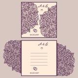 Van de huwelijksuitnodiging of groet kaart met abstract ornament Stock Fotografie