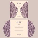 Van de huwelijksuitnodiging of groet kaart met abstract ornament Stock Foto