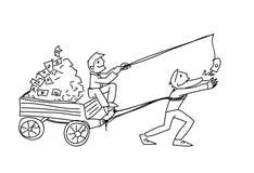 Van de de illustratiemotivatie van het fraudegeld vector de krabbelschets royalty-vrije illustratie