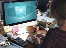 Van de Innovatieinternet van technologie Digitale Gegevens het Netto Concept stock foto