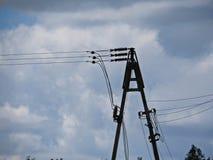 Van de de Installatiemacht van de hoogspanningselektriciteit van de het Nettransformator de Kolom Pool royalty-vrije stock foto's