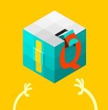 Van de IQ (IQ) test het concept Vector illustratie Stock Foto's