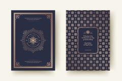 Van de de kaartontwerpsjabloon van de Kerstmisgroet de vectorillustratie royalty-vrije stock foto's
