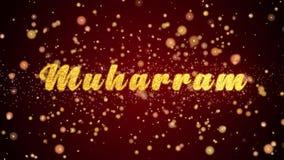 Van de de kaarttekst van de Muharramgroet de glanzende deeltjes voor viering, festival stock illustratie