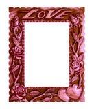 Van de kader oude Liefde witte uitstekende stijl als achtergrond Stock Fotografie