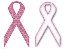 Het Lint van het Symbool van de Voorlichting van Kanker van de borst Stock Foto