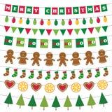 Van de Kerstmisbanners en decoratie reeks royalty-vrije stock fotografie