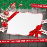 Van de Kerstmisgift van verkooplijnen het Hout van de de Couponkaart royalty-vrije illustratie