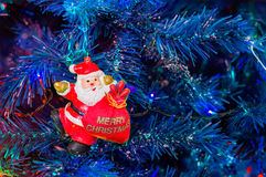 van de Kerstmishaan van 2017 van de vakantiekerstmis heldere van de het jaarwinter de traditiester als achtergrond Stock Foto