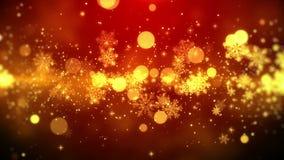 Van de Kerstmismotie het rode thema als achtergrond, met sneeuwvloklichten in modieus en elegant thema, voorzag van een lus stock illustratie