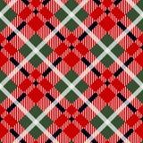 Van de de kilt diagonaal stof van het Menziesgeruite schots wollen stof zwart rood de textuur naadloos patroon als achtergrond Ve vector illustratie