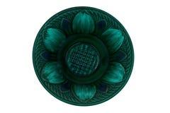 Van de de kleiplaat van de kleuren de ceramische plaat blauwe platen stock foto's