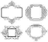 Van de Klemart vector van het Calligraphiaornament de lijnart. Stock Fotografie