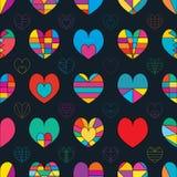 Van de de kleurensymmetrie van de liefdelijn het naadloze patroon royalty-vrije illustratie