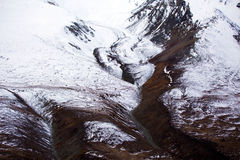 Van de Kluane Nationale Park en Reserve, van de Vallei, van de Berg en van de Gletsjer Meningen Stock Foto's