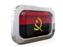 Van de de Knoopvlag van Angola 3D illustratie Royalty-vrije Stock Foto's