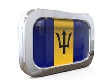 Van de de Knoopvlag van Barbados 3D illustratie Royalty-vrije Stock Foto