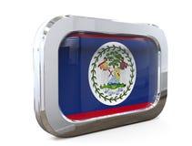 Van de de Knoopvlag van Belize 3D illustratie Stock Afbeelding