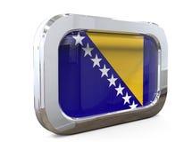 Van de de Knoopvlag van Bosnië-Herzegovina 3D illustratie Stock Fotografie