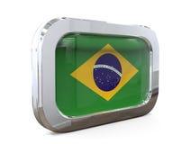 Van de de Knoopvlag van Brazilië 3D illustratie Royalty-vrije Stock Foto's