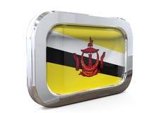 Van de de Knoopvlag van Brunei 3D illustratie Royalty-vrije Stock Afbeeldingen