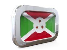 Van de de Knoopvlag van Burundi 3D illustratie Royalty-vrije Stock Foto's