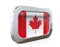 Van de de Knoopvlag van Canada 3D illustratie Royalty-vrije Stock Foto