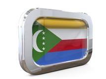 Van de de Knoopvlag van de Comoren 3D illustratie Stock Fotografie