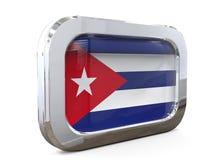 Van de de Knoopvlag van Cuba 3D illustratie Royalty-vrije Stock Foto's