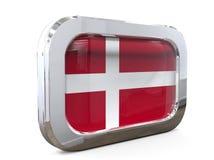 Van de de Knoopvlag van Denemarken 3D illustratie Royalty-vrije Stock Afbeelding
