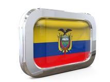 Van de de Knoopvlag van Ecuador 3D illustratie Stock Afbeeldingen