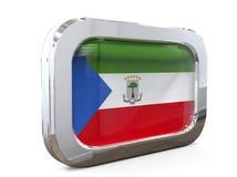 Van de de Knoopvlag van Equatoriaal-Guinea 3D illustratie Royalty-vrije Stock Afbeeldingen