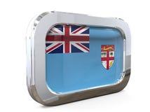 Van de de Knoopvlag van Fiji 3D illustratie Stock Afbeelding