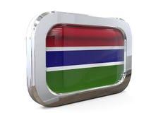 Van de de Knoopvlag van Gambia 3D illustratie Royalty-vrije Stock Fotografie