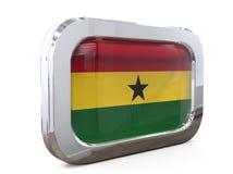 Van de de Knoopvlag van Ghana 3D illustratie Stock Afbeelding
