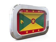 Van de de Knoopvlag van Grenada 3D illustratie Stock Afbeelding