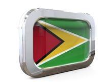 Van de de Knoopvlag van Guyana 3D illustratie Stock Fotografie