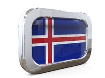 Van de de Knoopvlag van IJsland 3D illustratie Stock Afbeeldingen