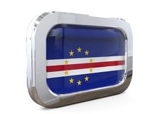 Van de de Knoopvlag van Kaapverdië 3D illustratie Stock Foto's