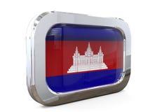 Van de de Knoopvlag van Kambodja 3D illustratie Stock Foto
