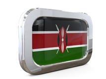 Van de de Knoopvlag van Kenia Bissau 3D illustratie Stock Afbeelding