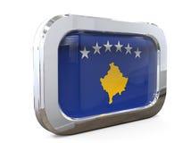 Van de de Knoopvlag van Kosovo 3D illustratie Stock Afbeelding