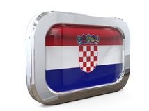 Van de de Knoopvlag van Kroatië 3D illustratie Royalty-vrije Stock Afbeeldingen