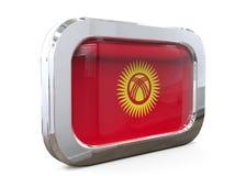 Van de de Knoopvlag van Kyrgyzstan 3D illustratie Royalty-vrije Stock Foto